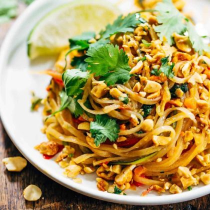 Thai Cuisine Veg pad thai noodles