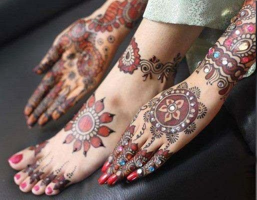 colorful of mehndi