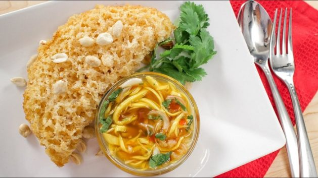 Thai Cuisine yam pla duk foo