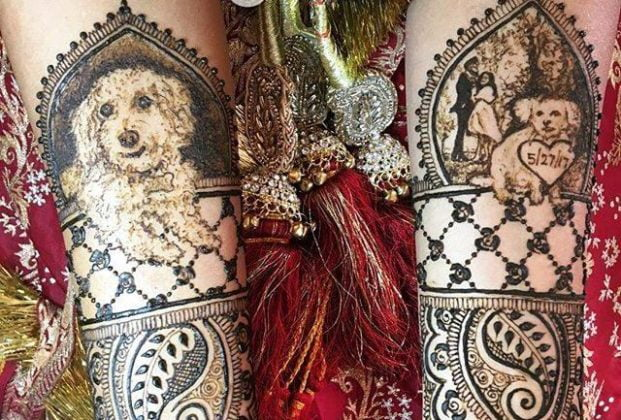 Include Your Pet in The Mehndi Design