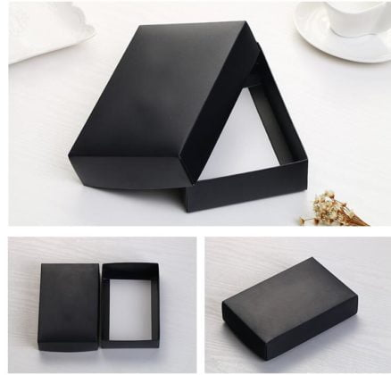 Black and White Product Packaging
