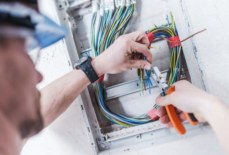 What are the common differences between industrial, residential, and commercial electrician?
