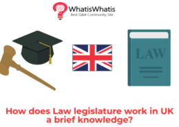 How does the legislature laws works in UK?