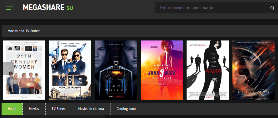 Megashare Online Streaming Site for watch movies