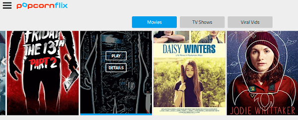 Popcornflix Online Streaming Site for Movies