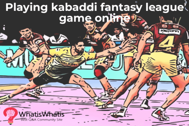 Playing kabaddi fantasy league game online