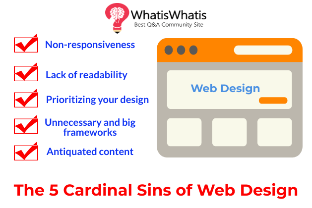 The 5 Cardinal Sins of Web Design