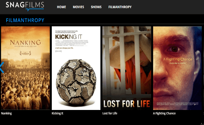 snagfilms watch free movies online