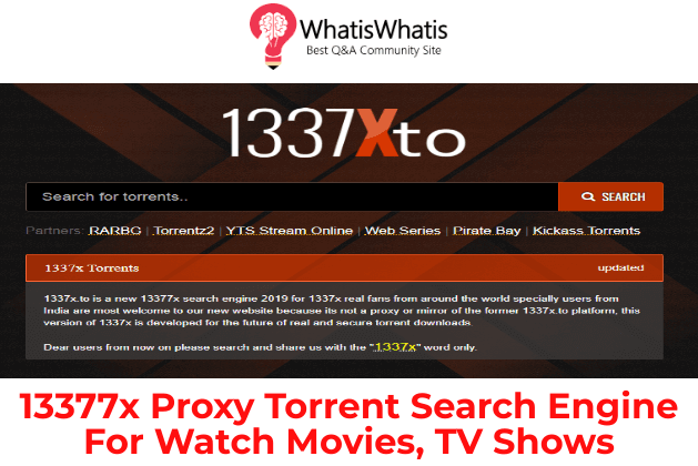 13377x Proxy Torrent Search Engine For Watch Movies, TV Shows