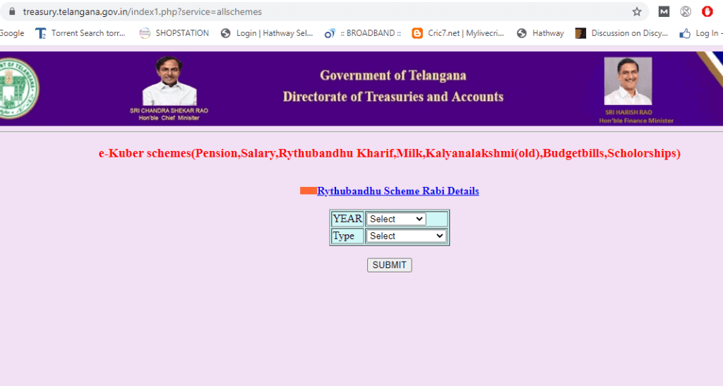 Treasury-telangana-gov-in-all-schemes