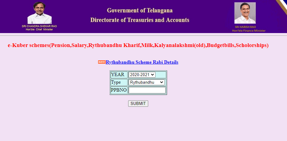 Treasury-telangana-gov-in-select-rythu-bandhu