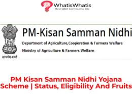 PM Kisan Samman Nidhi Yojana Scheme (PMKSNY)  Status, Eligibility And Fruits