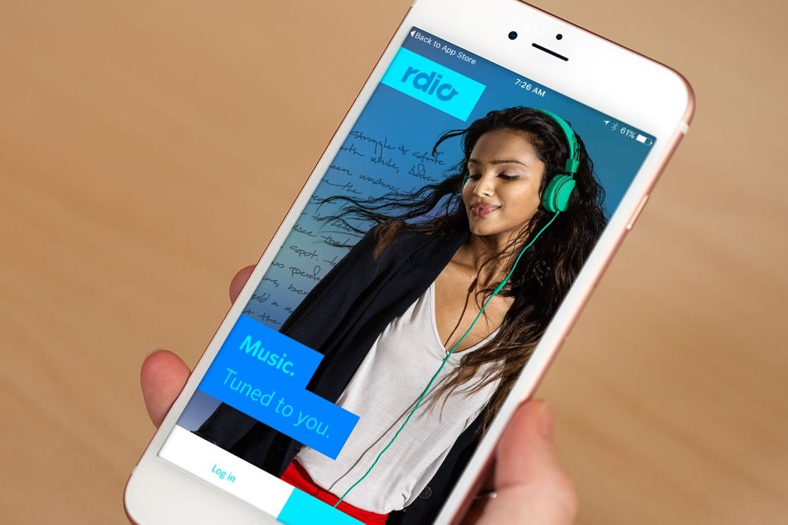 Rdio-app for songs