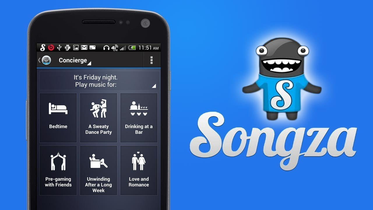 Songza- music apps for songs