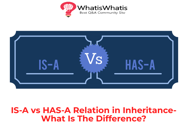 IS-A Vs HAS-A Relation in Inheritance- What Is The Difference?