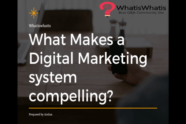 What Makes Digital Marketing System Compelling? What Components Are Influencing Their Functionality?