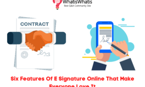 Six Features Of E Signature Online That Make Everyone Love It