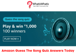 Amazon Guess The Song Quiz Answers For Today To Win 1000 Amazon Pay Balance