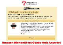 Amazon MICHAEL KORS Gen 5E Quiz Answers Today