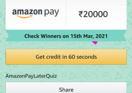 Amazon Pay Later Quiz Answers Today To Win 20,000 Amazon Pay Balance