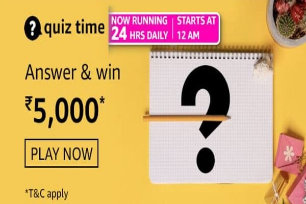 Amazon Quiz Answers Today 24th February 2021