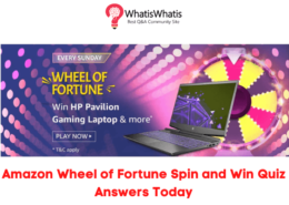 Amazon Wheel of Fortune Spin and Win Quiz Answers Today