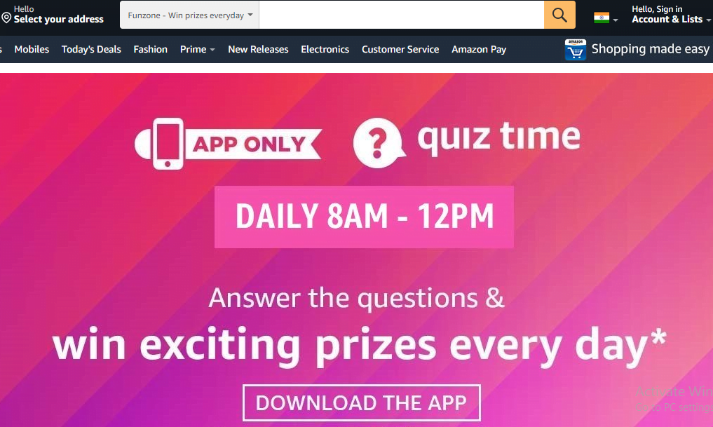 Amazon Quiz Today Daily Answers To Win Exciting Prizes