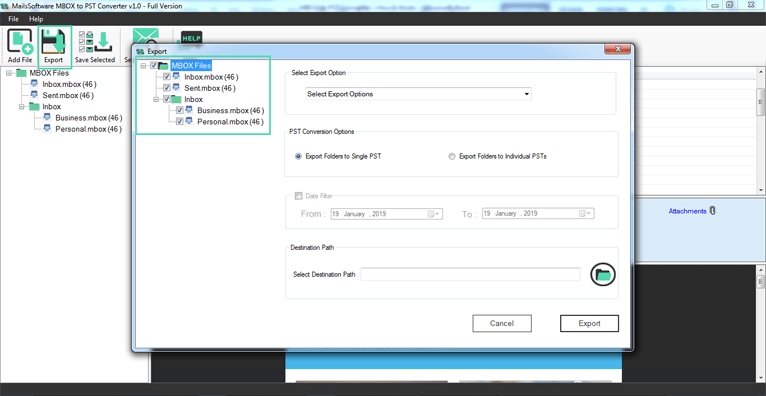 MailsSoftware MBOX Converter