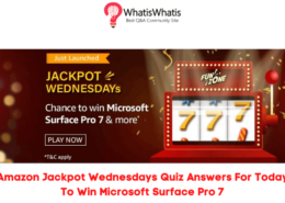 Amazon Jackpot Wednesdays Quiz Answers For Today To Win Microsoft Surface Pro 7