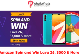 Amazon Spin and Win Lava Z6 Quiz Answers