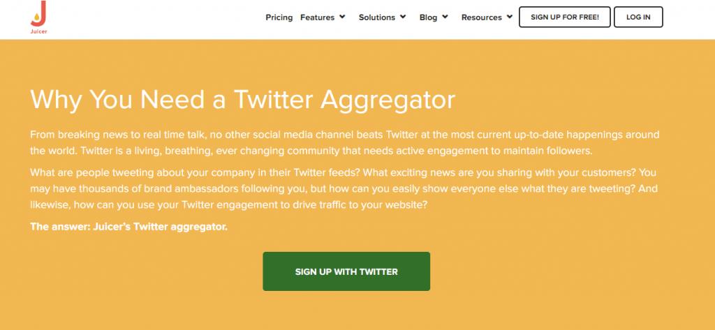 Juicer Twitter Aggregator Tool