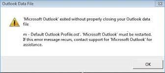Fix Default Outlook Profile.ost Cannot be Opened
