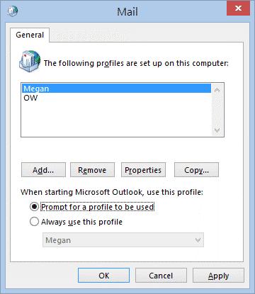 select the option