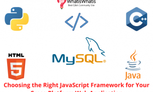 Choosing the Right JavaScript Framework for Your Cross-Platform Web Application